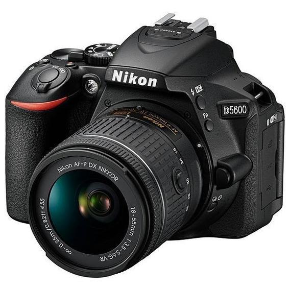 Câmera Nikon D5600 24.2mp Bluetooth/wi Fi/nfc + Lente Af-p D