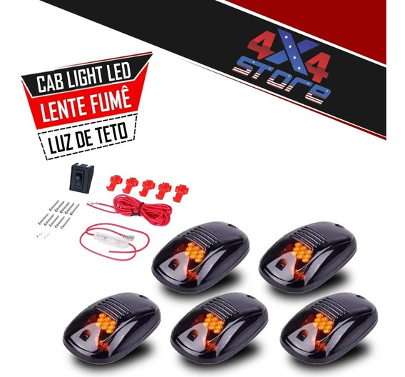 Cab Light Luz Teto Led Lente Fumê F250