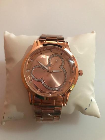 Relógio Feminino Quartz Dourado Escuro