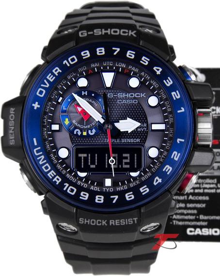 Relógio G-shock Gulfmaster Gwn-1000b-1bdr Tough Solar Nfe