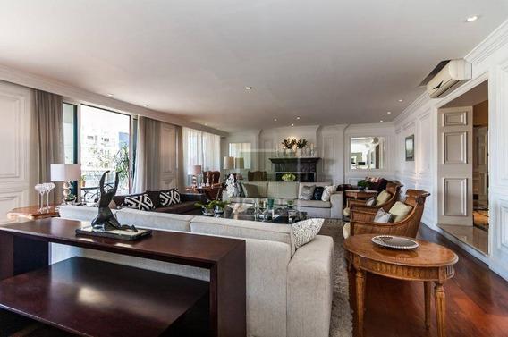 Apartamento Com 5 Dormitórios À Venda, 575 M² Por R$ 8.900.000 - Jardins - São Paulo/sp - Ap4855