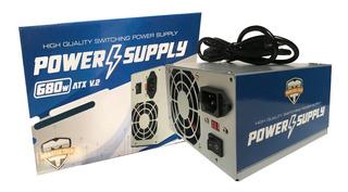 Fuente De Poder Atx 680w V.2 Pc 20-24 Pin Sata Ide