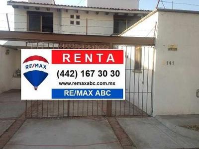Casa Renta Colinas Del Cimatario