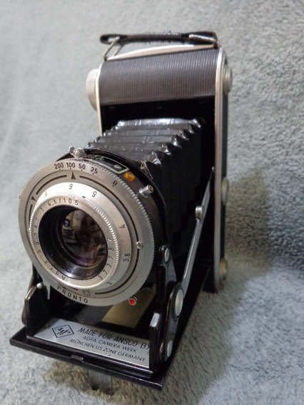 Câmera De Fole Agfa Ansco Viking 4.5 Ano 1951 Impecavel