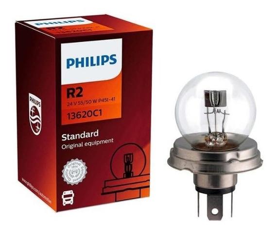 Lâmpada Philips Standart 55w 24v P45t-41 R2 Farol