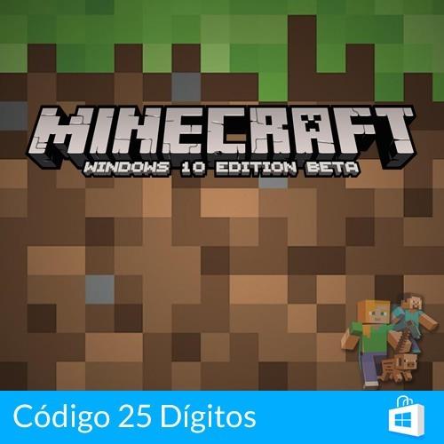 Minecraft Windows 10 Edition Pc Key Completo Original Online