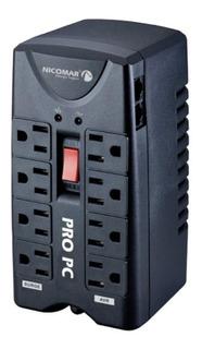 Regulador De Voltaje Nicomar Pro Pc 1000 Y Supresor De Picos