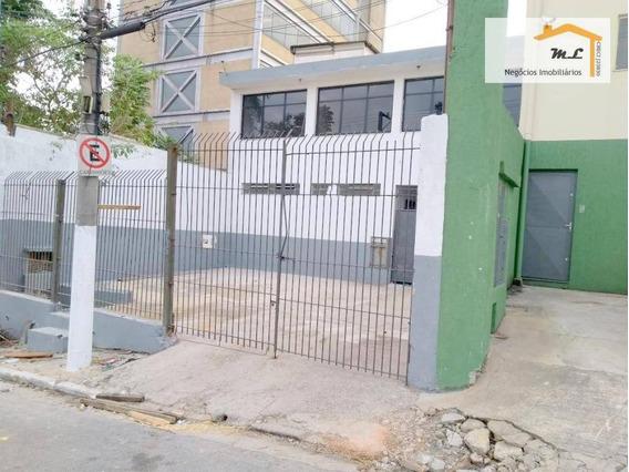 Galpão Para Alugar, 500 M² Por R$ 9.000/mês - Vila Prudente - São Paulo/sp - Ga0148