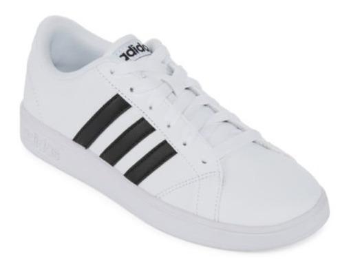 Tenis adidas Baseline K Blanco Negro Aw4299
