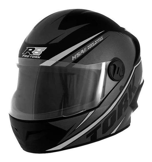 Capacete para moto integral Pro Tork R8 preto/prata M