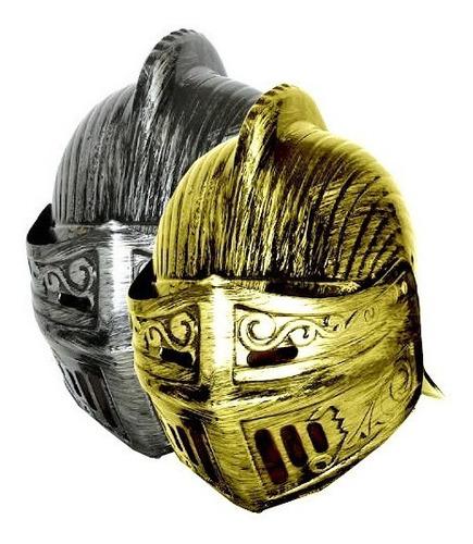 Casco Mascara Gorro Medieval Duelista Guerrero Disfraz
