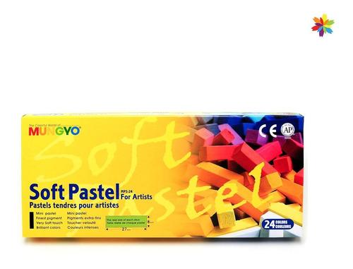 Pasteles A La Tiza Mungyo Caja X 24 Soft Pastel Barrio Norte