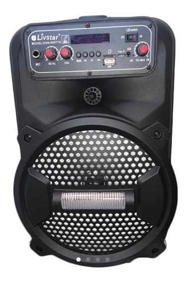 Caixa De Som Amplificadora Bluetooth Fm / Usb / Microfone