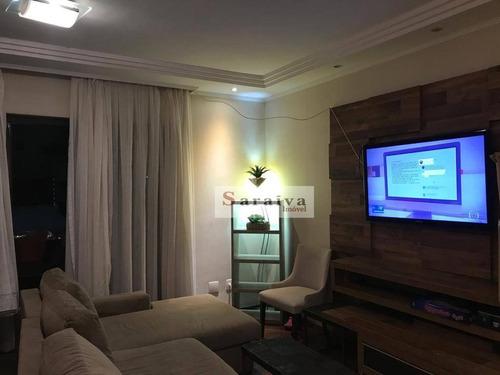 Imagem 1 de 29 de Apartamento À Venda, 150 M² Por R$ 750.000,00 - Vila Valparaíso - Santo André/sp - Ap3848