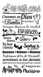 Frases Decorativas Adhesivos Textos Mensajes