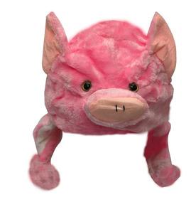 Gorro De Bichinho Infantil Porco Rosa