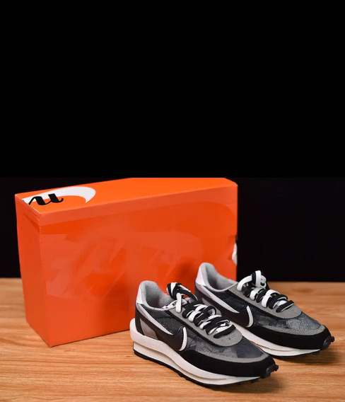 Nike Ld Waffle Sacai Black Multi Tam 41 Br