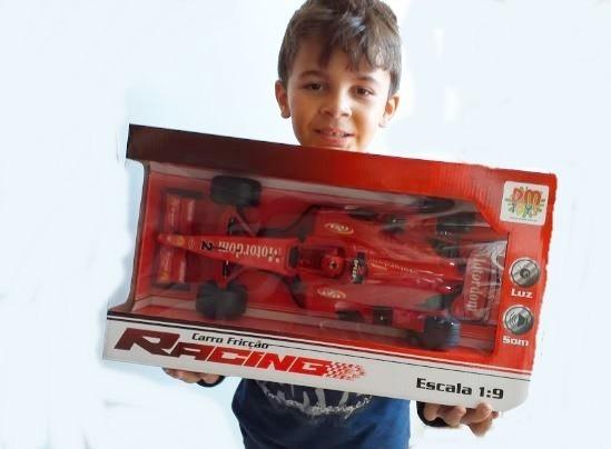 Carro Formula 1 Fricção Racing Escala 1:9 Com Luz E Som