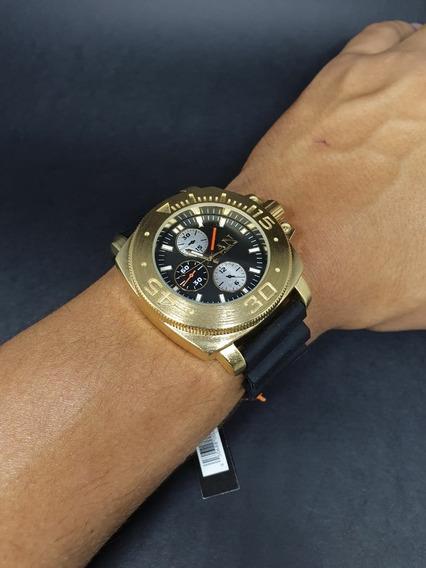 5 Relógios Masculinos Caixa Aço Escovado Várias Cores