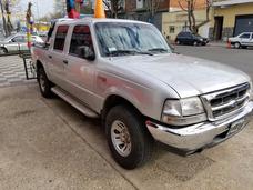 Ford Ranger 2003 Diesel 2.8 Cabina Doble Gris Financio 100%