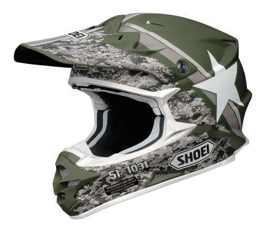 Casco Motocross Shoei Vfx-w Super Hue Tc-4 6 Cuotas