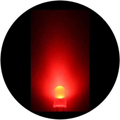 Imagen 1 de 7 de 25 Leds Ultrabrillantes De 5mm -- Rojo Difuso