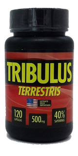 Tribulus Terrestris Puro 120caps - O Melhor - 40% Saponinas