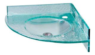 Bacha Baño Esquinera Cristal Monocomando Reflejar 43x43x43