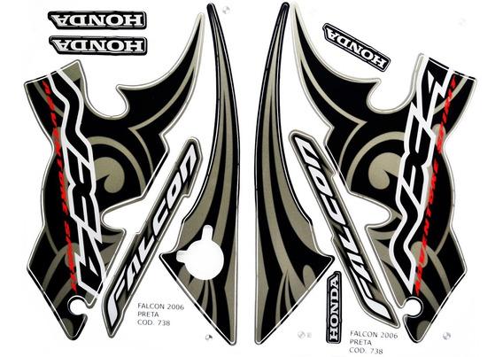 Faixas / Kit Adesivos Honda Nx400 Falcon 2006 Preta