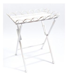 Mesa Metal Plegable Blanco Jx1656