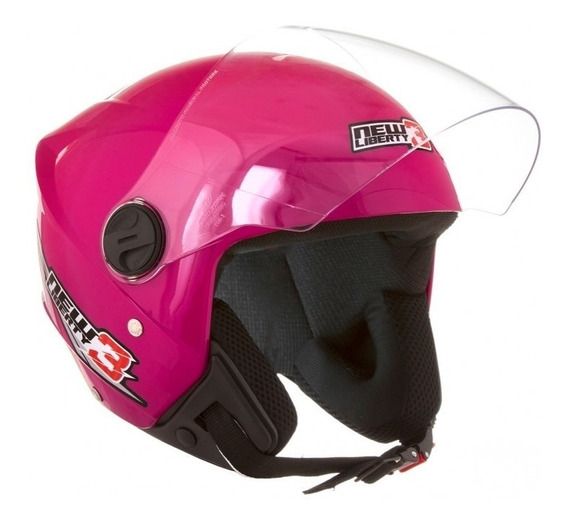 Capacete Moto Aberto Mulher New Liberty 3 Pro Tork Rosa Top