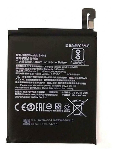 Batería Bn45 Compatible Con Xiaomi Redmi Note 5 Pro / Note 5