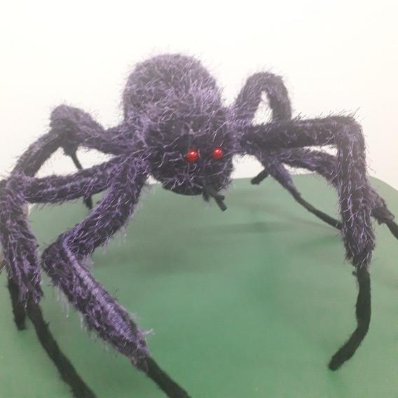 Araña Gigante Violeta Decoracion Halloween Chirimbolos