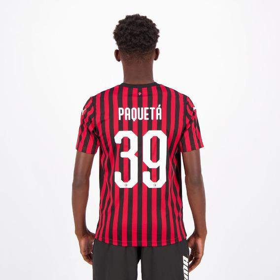 Camisa Puma Milan Home 2020 39 Paquetá