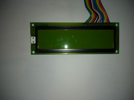 Big Lcd 16x2 Verde Com Backlight E Chicote