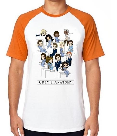 Camiseta Luxo Greys Anatomy Turma Seriado Medicos Enfermagem
