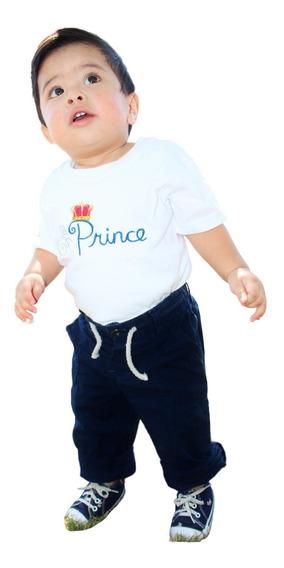 Playera Bordada Príncipe Para Niños