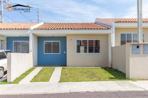 Casa À Venda, 57 M² Por R$ 181.000,00 - Santa Terezinha - Fazenda Rio Grande/pr - Ca0180