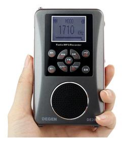Rádio Gravador Degen De28 Am Fm Sw Ondas Curtas Mp3 Player