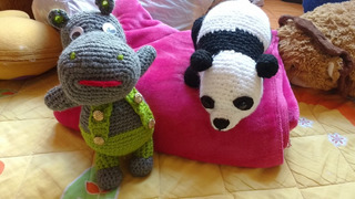 Amigurumi Oso Panda E Hipopótamo Precio Por 1 Pz Nuevo