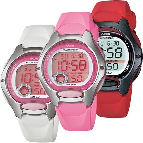 Reloj Dama Casio Lw200 Caucho Rosa - Varios Colores