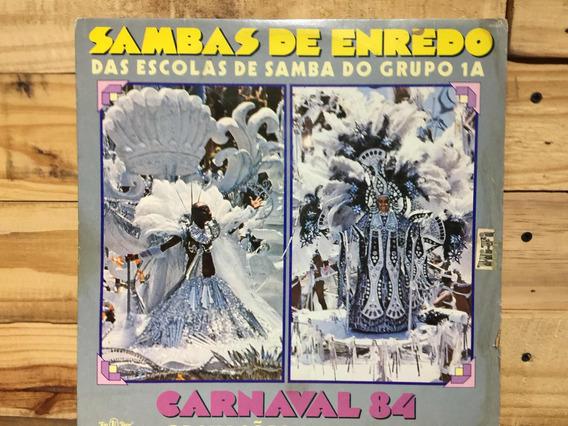 Lp Sambas De Enredo Vinilo Brasil Carnaval 84 Escolas De Sam