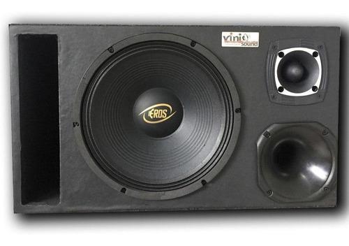 Caixa Trio Eros E-450lc Black 450wrms 12' + Driver + Tweeter