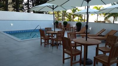 728 - Apto 2 Suites Com Entrada Pequena Em Praia Grande