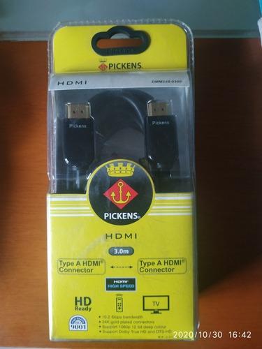 Imagen 1 de 1 de Cable Hdmi Tipo A Pickens (dmm248-0300) 3 Metros