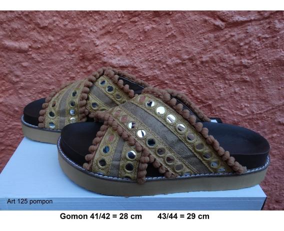 Sandalia Pompon Talle Grande 41 42 43 44 - Art 125