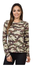 Camisa Camuflada Feminina Longa Proteção Solar Extreme Uv