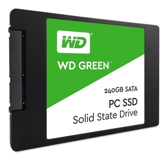 Hd Ssd 240gb Western Digital Green Sata 2.5 Wd 3ano Garantia