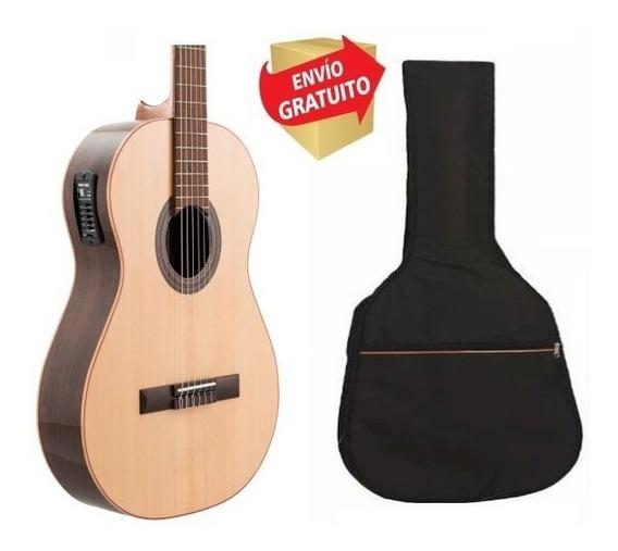 Guitarra Electro Criolla Clasica Fonseca Modelo 50ec Funda