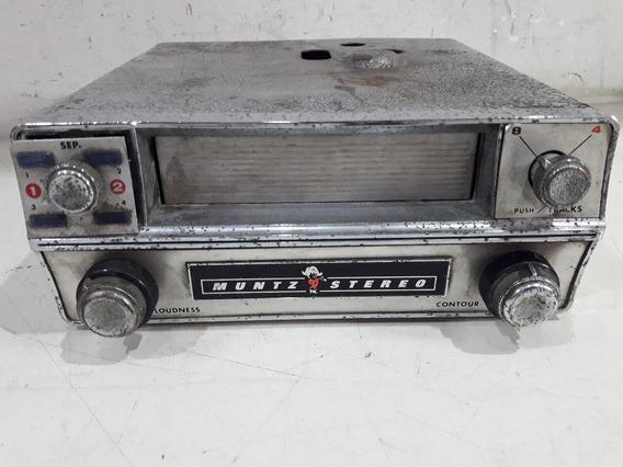 Tape Deck Cartucho Muntz 4 E 8 Track Stereo No Estado